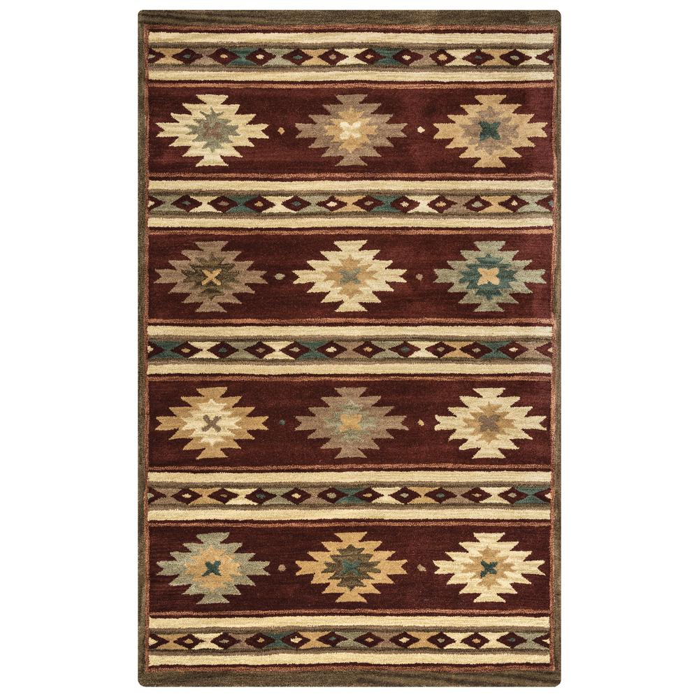 Rizzy Home Southwest Burgundy 3 Ft X 5 Ft Area Rug