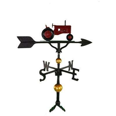 32 in. Deluxe Red Tractor Weathervane