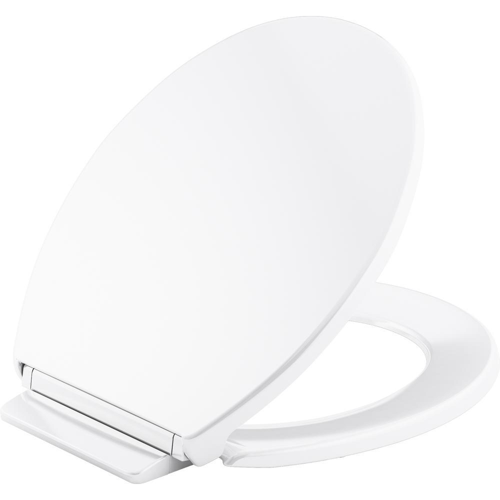 Sensational Kohler Highline Round Closed Front Toilet Seat In White Machost Co Dining Chair Design Ideas Machostcouk