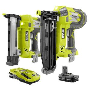Ryobi 18-Volt ONE+ AirStrike Straight Nailer and Narrow Crown Stapler Combo (2-Tool) by Ryobi