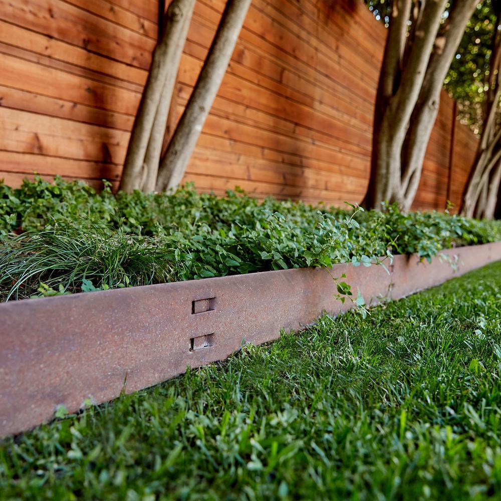 COL-MET 4 ft. x 4-Gauge x 4 in. Black Steel Landscape Edging