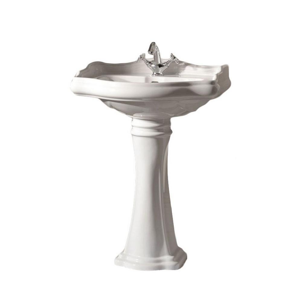 Heritage WSBC Bathroom Pedestal in Ceramic White