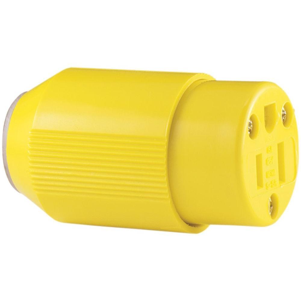 15 Amp 125-Volt 5-15 AutoGrip Corrosion Resistant Plug and Connector