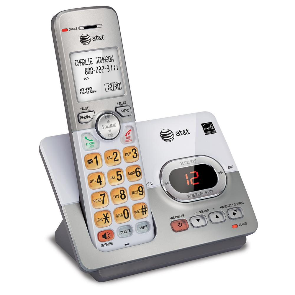 2-Handset DECT 6.0 Expandable Cordless Phone with Caller ID