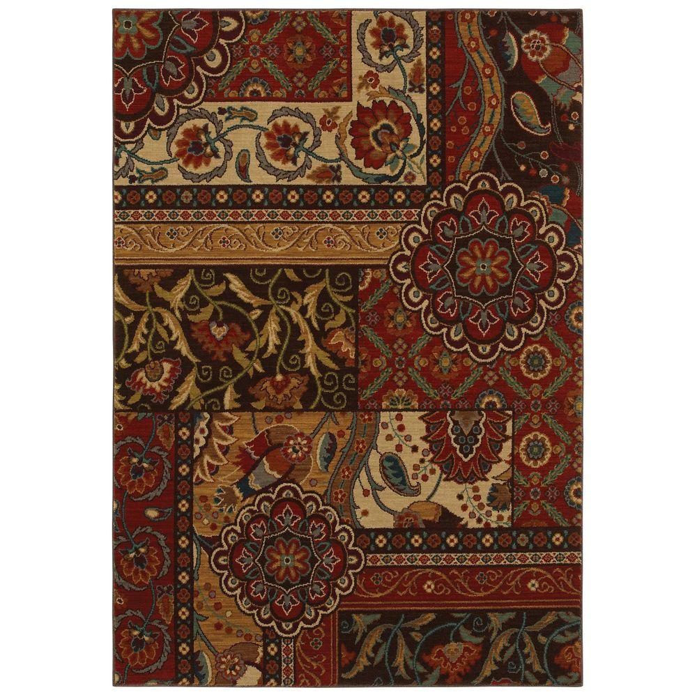 Home Decorators Collection Keswick Tomatillo Red 5 ft. 3 in. x 7 ft. 6 in. Area Rug