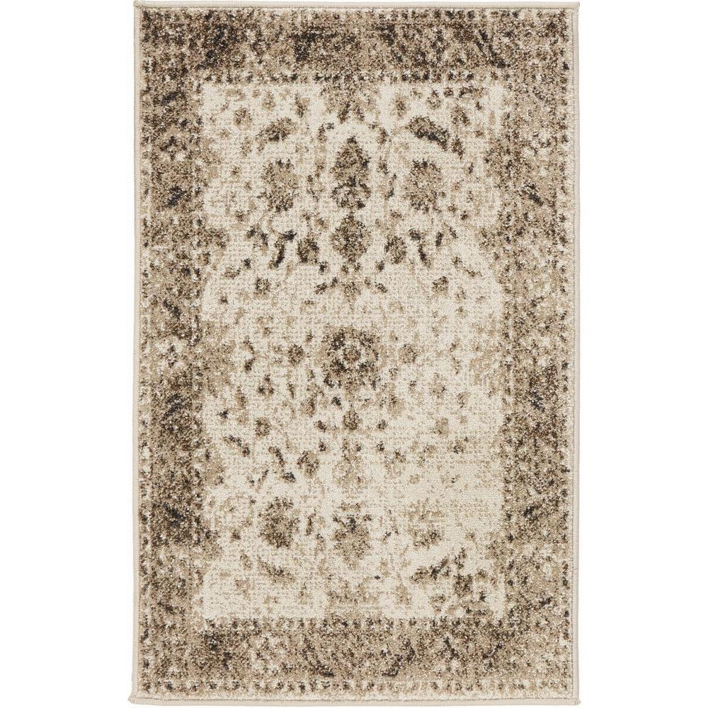Old Treasures Beige 2 ft. x 3 ft. Scatter Rug