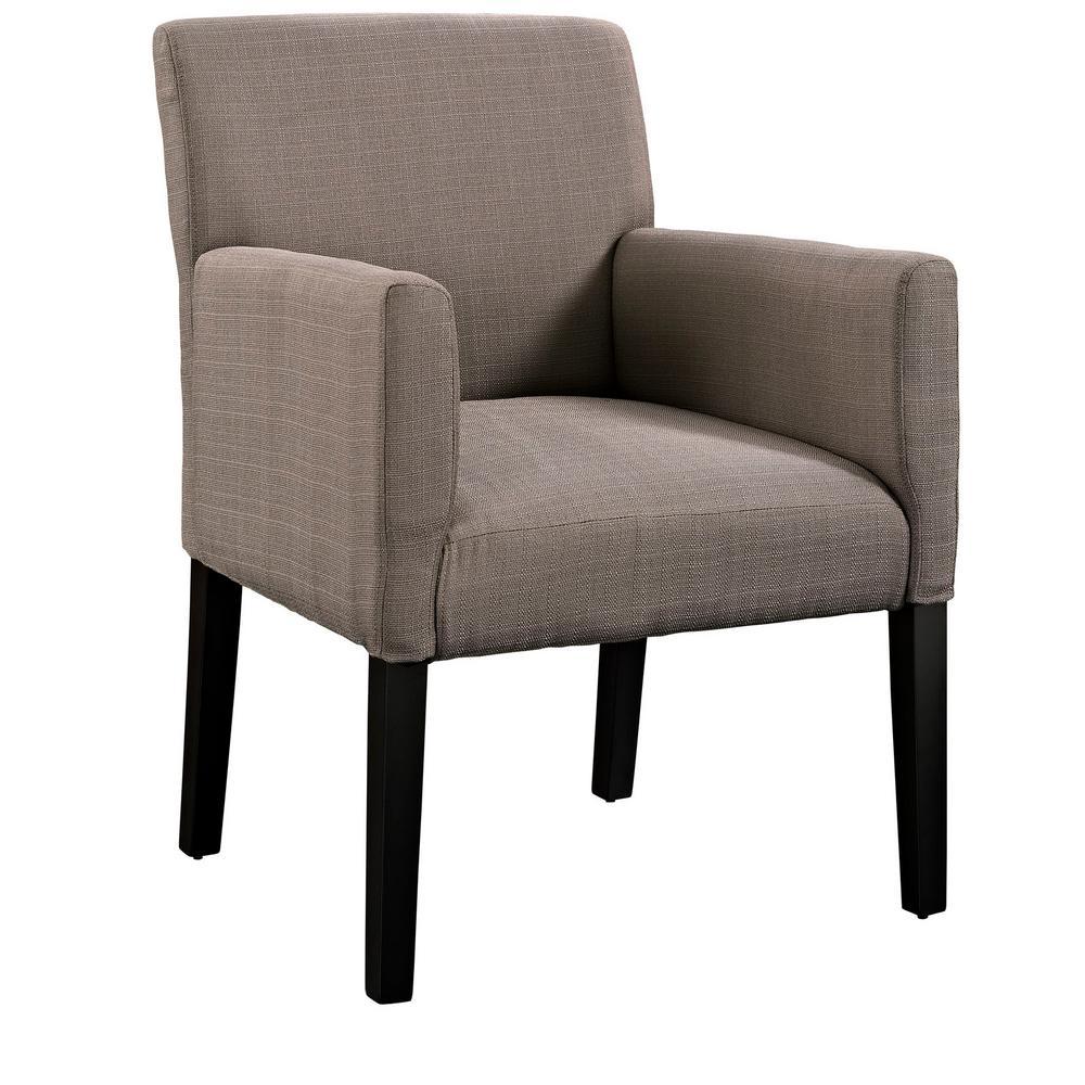 Gray Chloe Upholstered Arm Chair