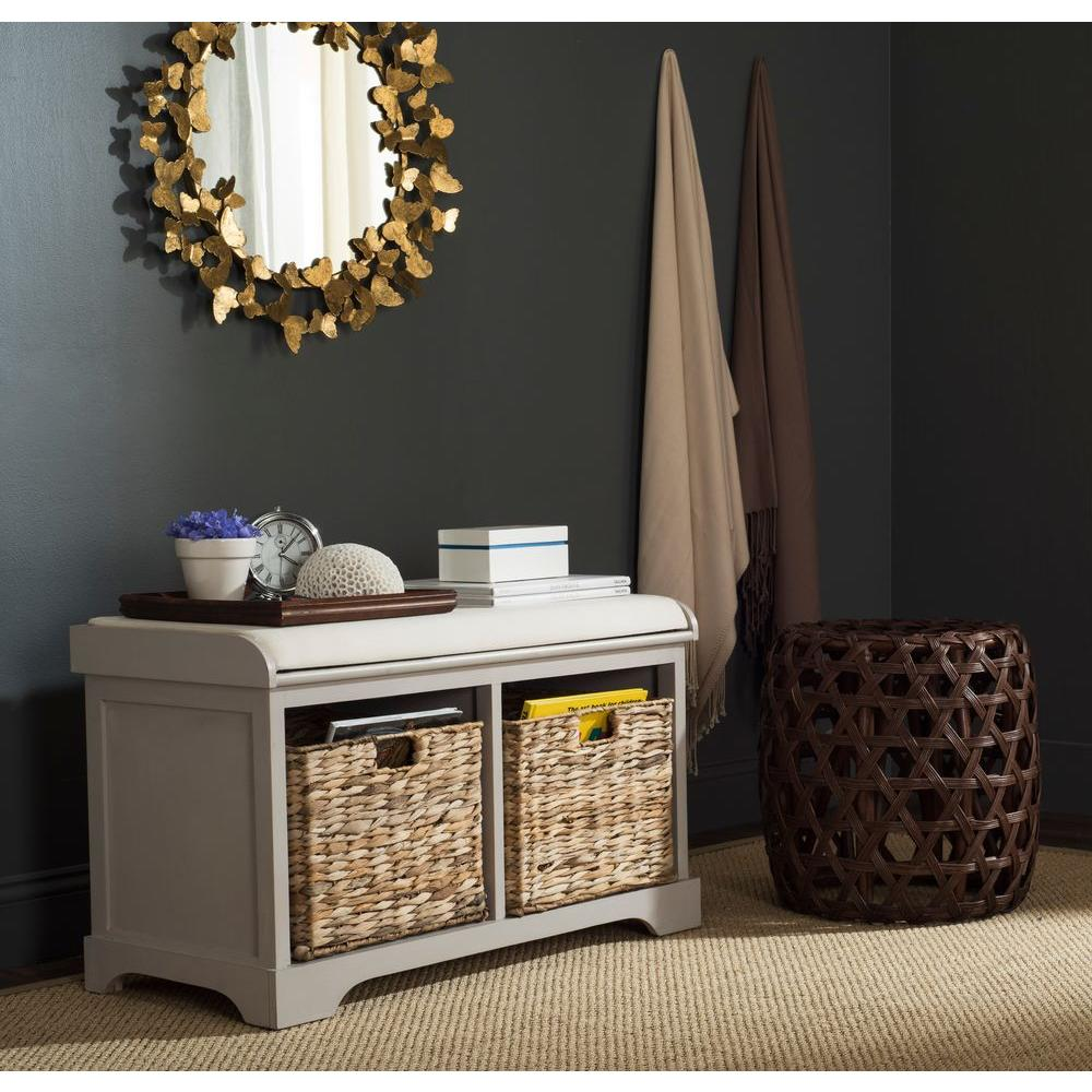 Safavieh Freddy Vintage Grey Storage Bench