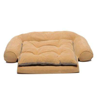 Medium Ortho Sleeper Comfort Couch Pet Bed with Removable Cushion - Carmel