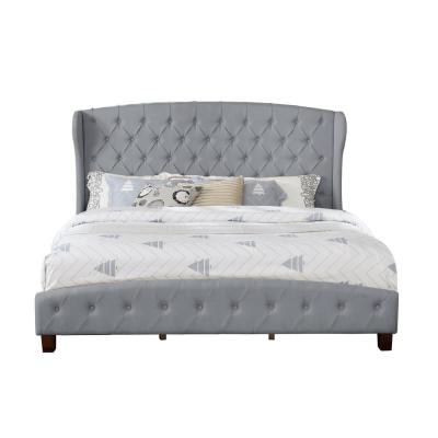 Eastern Gray King Size Upholstered Shelter Bed