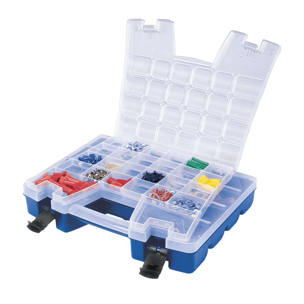 Akro Mils 15 In. Portable Organizer With Lid Storage