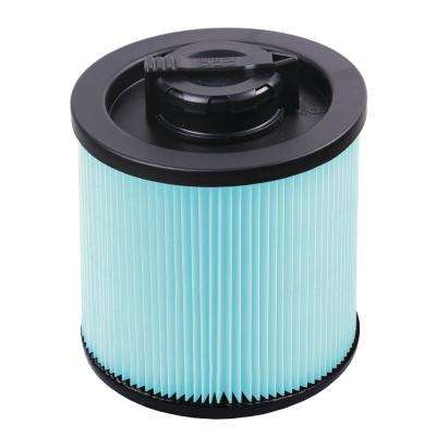 HEPA Material Cartridge Filter for 4 Gal. DeWalt Wet/Dry Vacuum