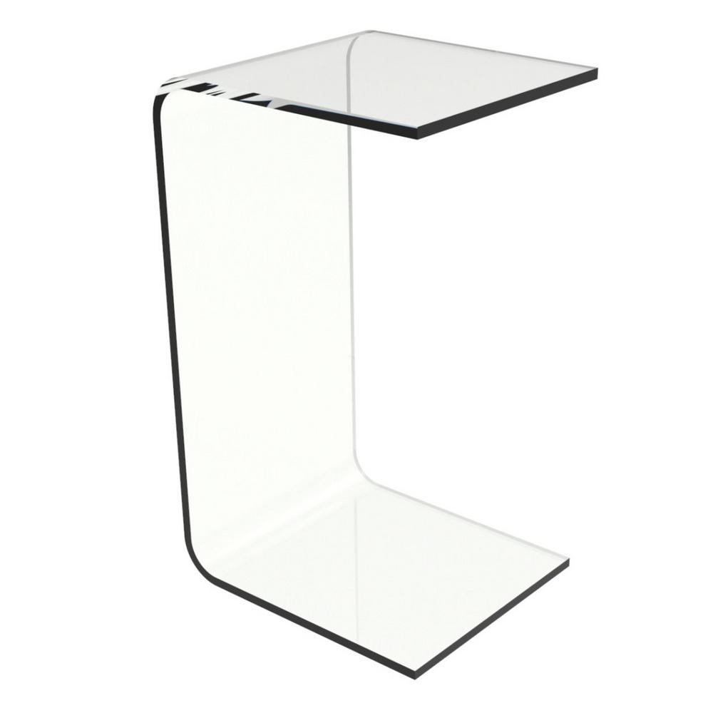 Exceptional Lavish Home Acrylic Clear Modern C Style Vertical End Table