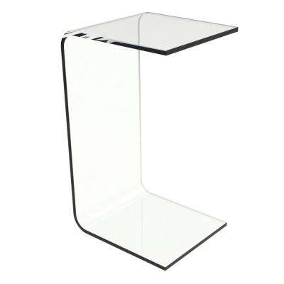 Acrylic Clear Modern C-Style Vertical End Table