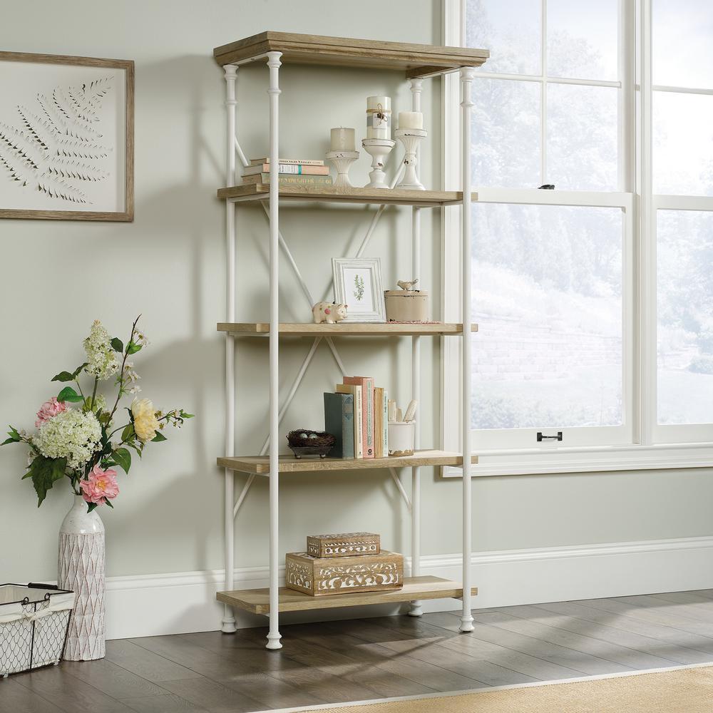 Canal Street Coastal Oak 5-Shelf Bookcase