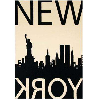 Terra New York Ivory 3 ft. 9 in. x 5 ft. 6 in. Area Rug