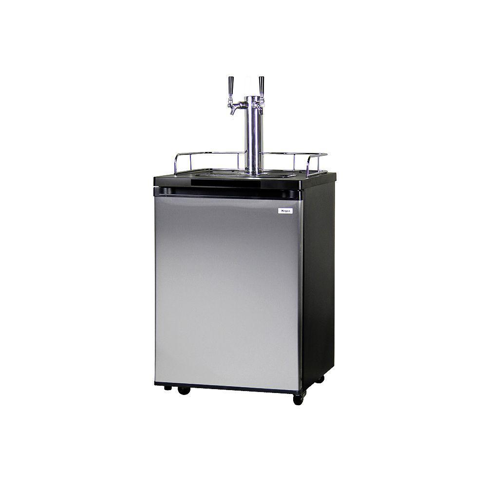 Kegco Full Size Beer Keg Dispenser with Double Tap, Matte...