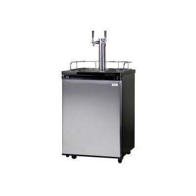 Full Size Beer Keg Dispenser with Double Tap