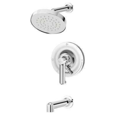Museo 1-Handle Wall Mounted Tub and Shower Trim Kit in Chrome (Valve Not Included)