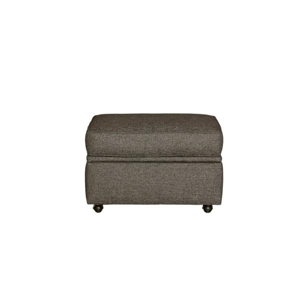 Awe Inspiring Colson Charcoal Upholstered Ottoman Caraccident5 Cool Chair Designs And Ideas Caraccident5Info