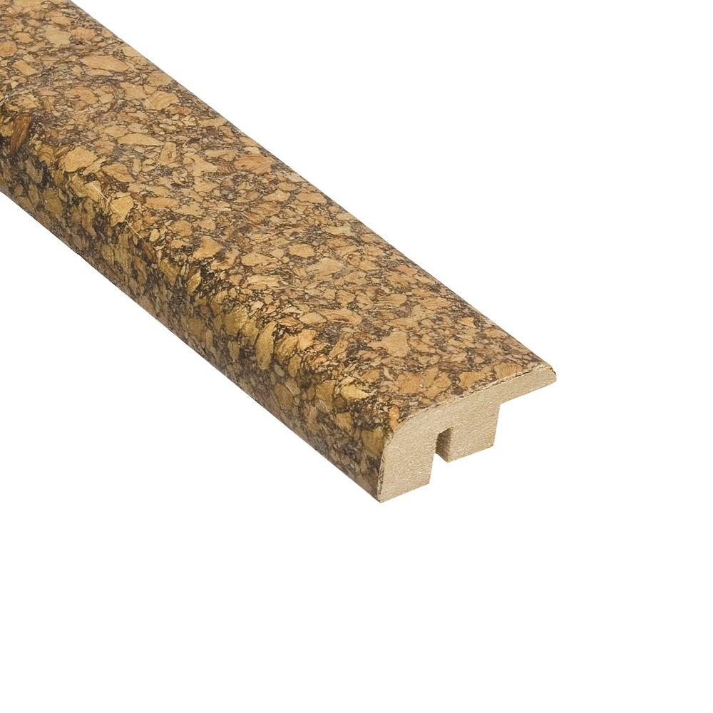 Home Legend Natural Herringbone 1/2 in. Thick x 1-7/16 in. Wide x 78 in. Length Cork Carpet Reducer Molding