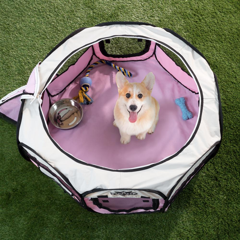 Portable Pop Up Pet Play Pen With Carrying