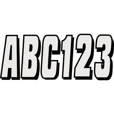 Series 320 Registration Kit Solid Color Block Font with Drop Shadow in Silver/Black