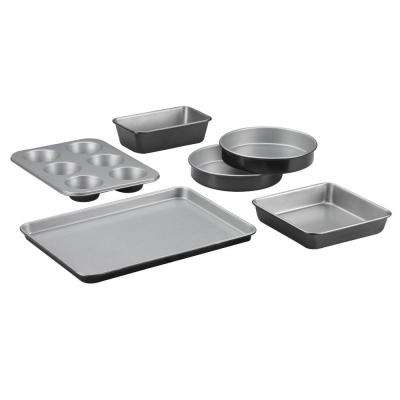 Chef's Classic 6-Piece Black Bakeware Set