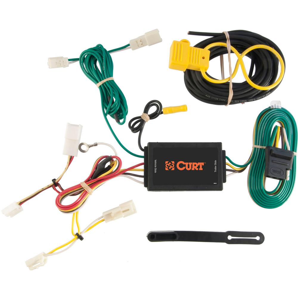CURT Custom Vehicle-Trailer Wiring Harness, 4-Way Flat Output, Select  Toyota Sienna, Quick Electrical Wire T-Connector-56106 - The Home DepotThe Home Depot