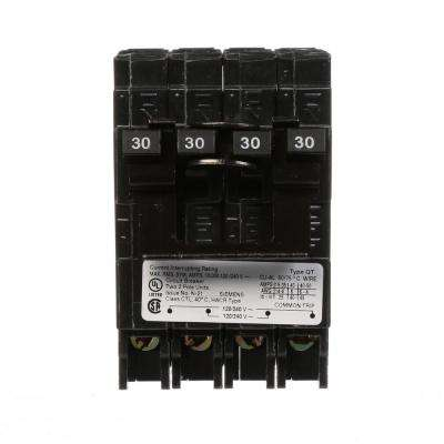 Quadplex 1-Outer 30 Amp Double-Pole and 1-Inner 30 Amp Double-Pole Circuit Breaker