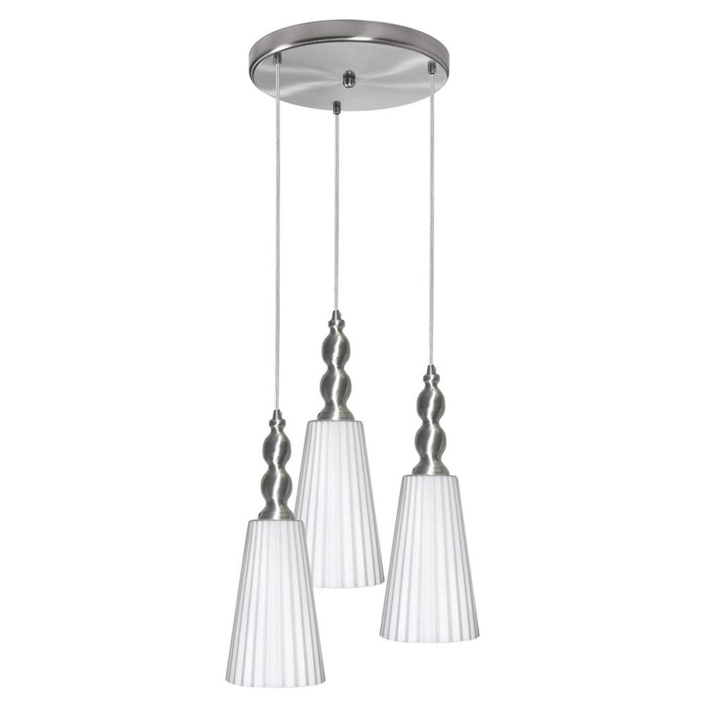 Filament Design Catherine 3-Light Satin Chrome Multi Light Pendant