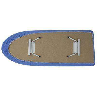 Tabletop Ironing Board with Folding Legs and Blue Cover