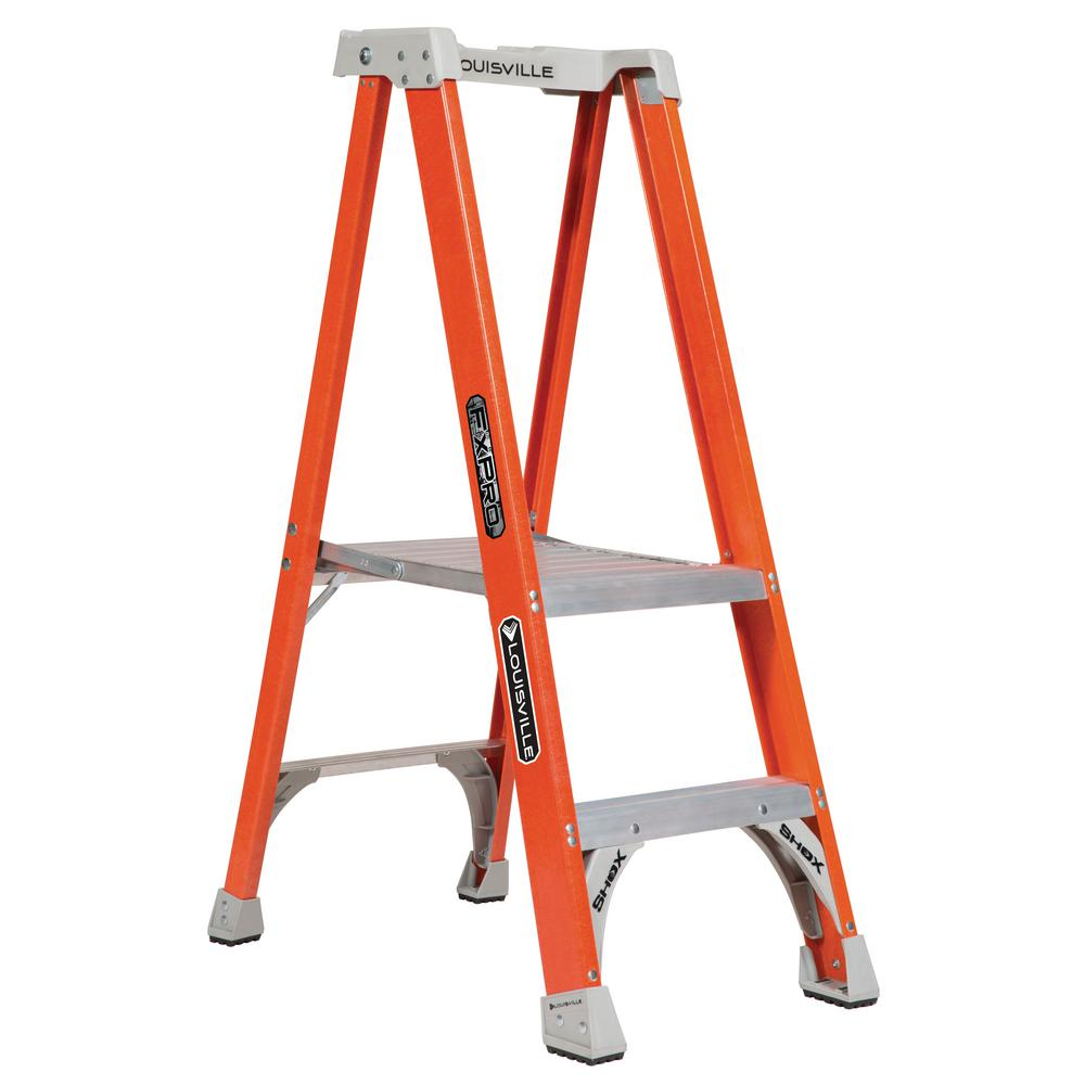 Louisville Ladder 2 ft. Fiberglass Pinnacle Platform Ladder with 300 lbs. Load Capacity Type IA Duty Rating