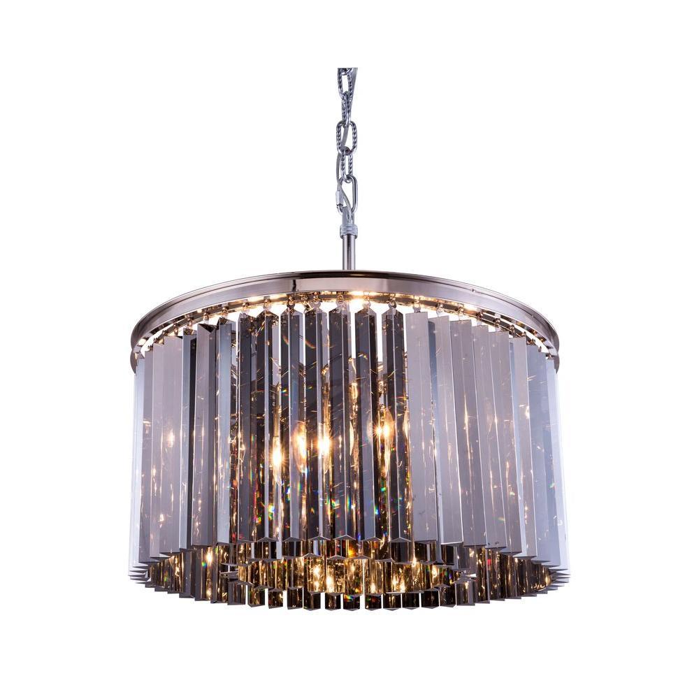 Elegant Lighting Sydney 8 Light Polished Nickel Chandelier