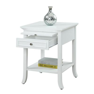 American Heritage Logan White End Table