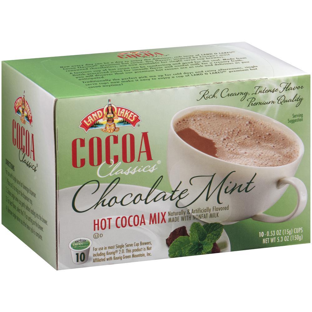 Cocoa Classics Mint Hot Cocoa (60 Single Serve Cups per Case)