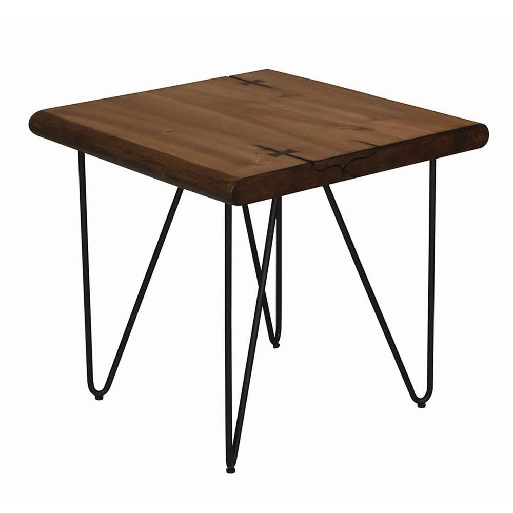 Coaster Home Furnishings Montgomery Natural Honey End Table with Hairpin Legs, Honey Brown Coaster Home Furnishings Montgomery Natural Honey End Table with Hairpin Legs, Honey Brown