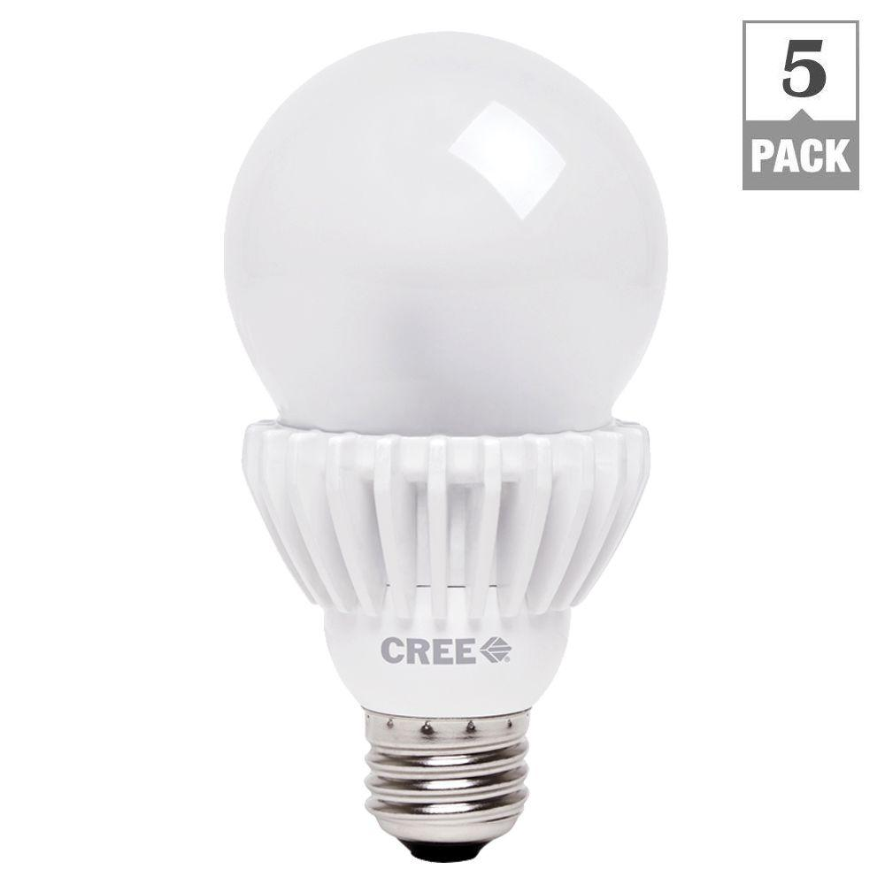 Cree 100W Equivalent Daylight (5000K) A21 Dimmable LED Light Bulbs (5-Pack)
