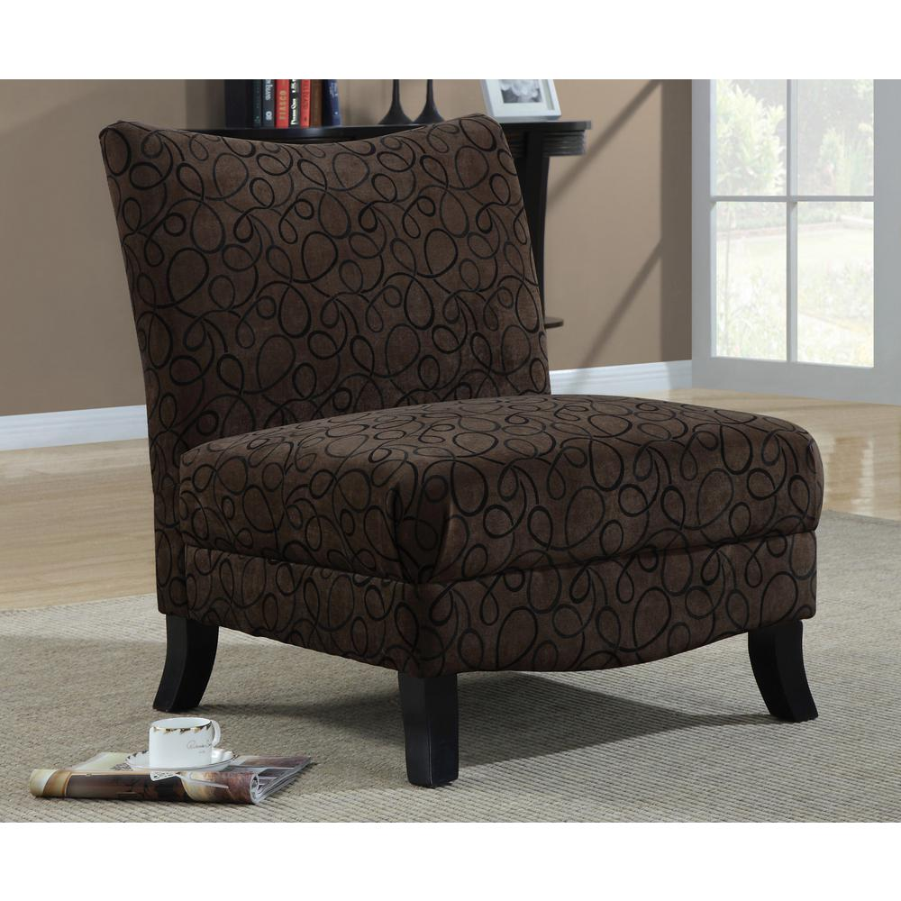 Cappuccino Fabric Accent Chair