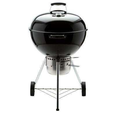 22 in. Original Kettle Premium Charcoal Grill in Black with Built-In Thermometer