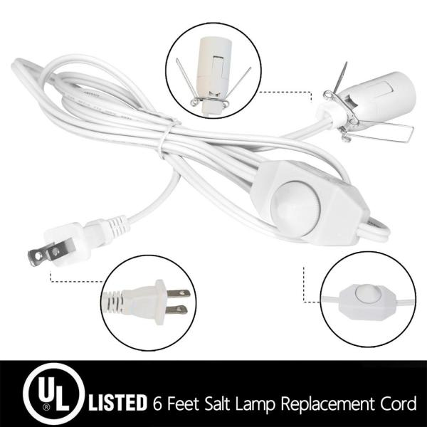 2 Pack With Dimmer Switch,Salt Control And For 5 Feet Himalayan Salt Lamp Cord