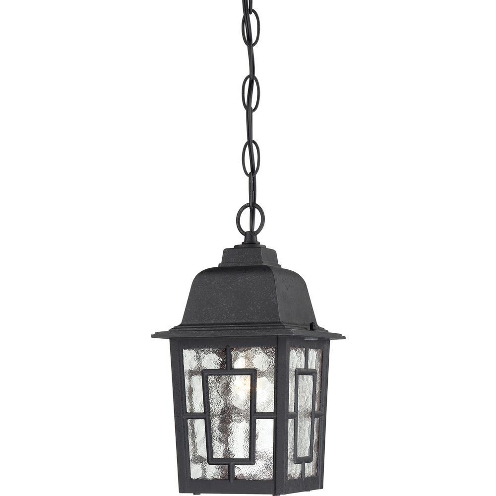 Connor Textured Black 1-Light Outdoor Hanging Lantern