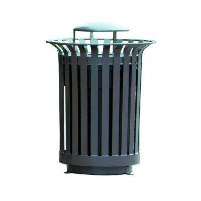 36 Gal. Lexington Trash Receptacle with Ash Urn Lid and Liner Outdoor Trash Can