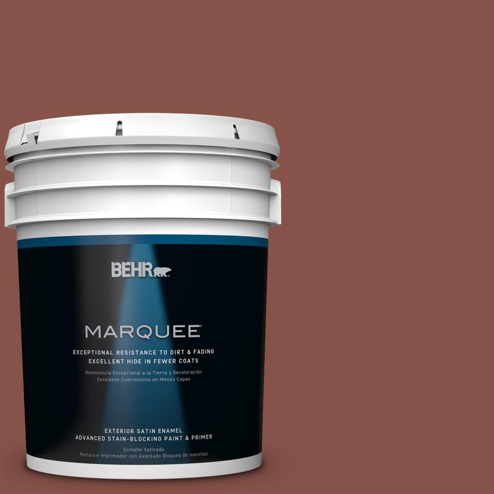 5-gal. #PPU2-18 Spice Satin Enamel Exterior Paint