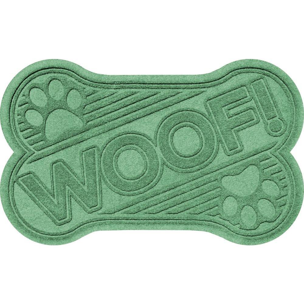Light Green 24 in. x 36 in. Woof Pet Mat