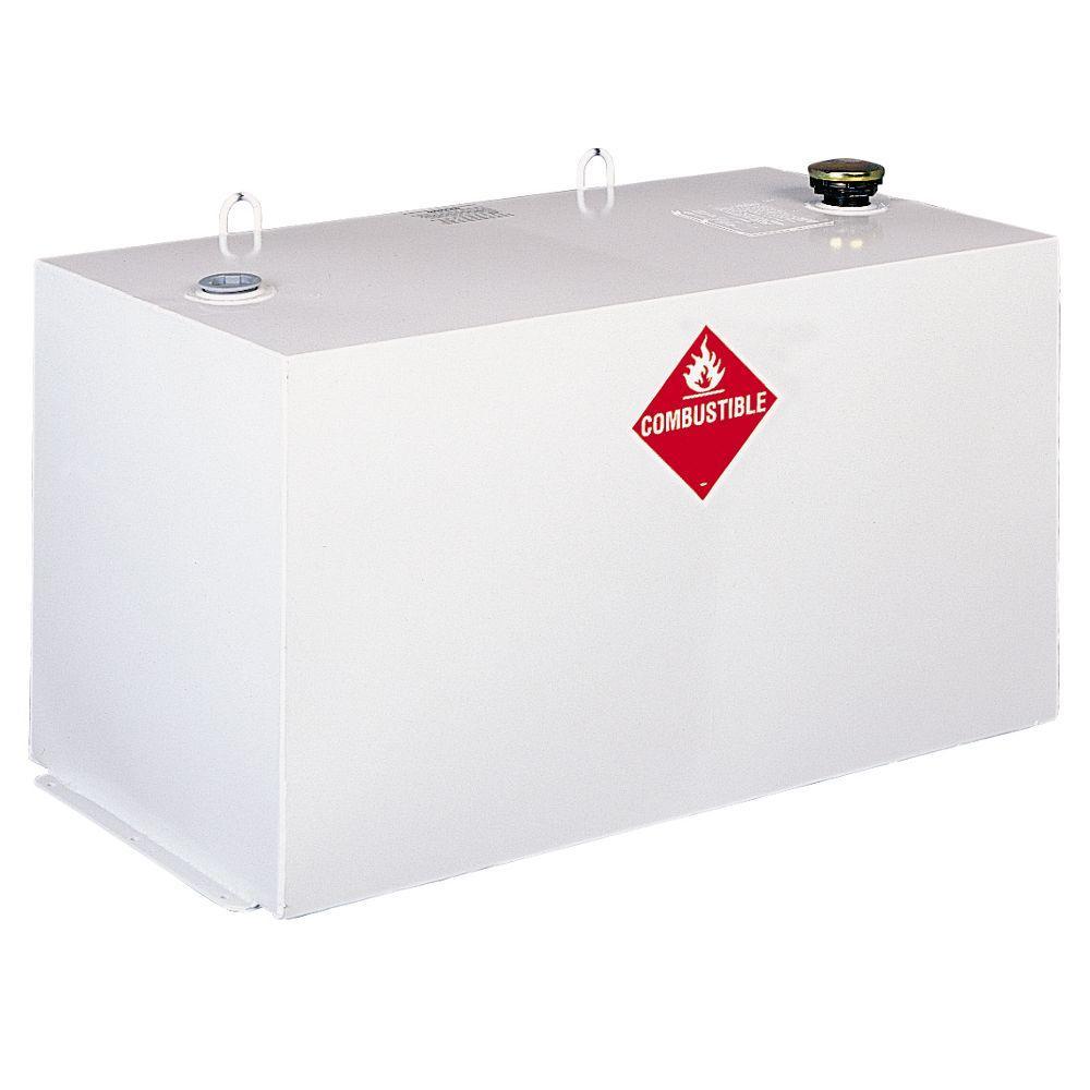 Delta Rectangular Steel Liquid Transfer Tank in White