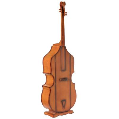 Brown 6.5 Feet Tall Violin, 3 Shelf Large Violin Shaped Cabinet With Door