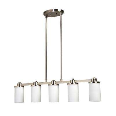 Archieroy 5-Light Polished Nickel Island Light