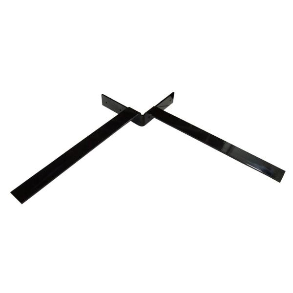 Federal Brace Independence 12 in. x 12 in. Black Steel Countertop Corner Bracket