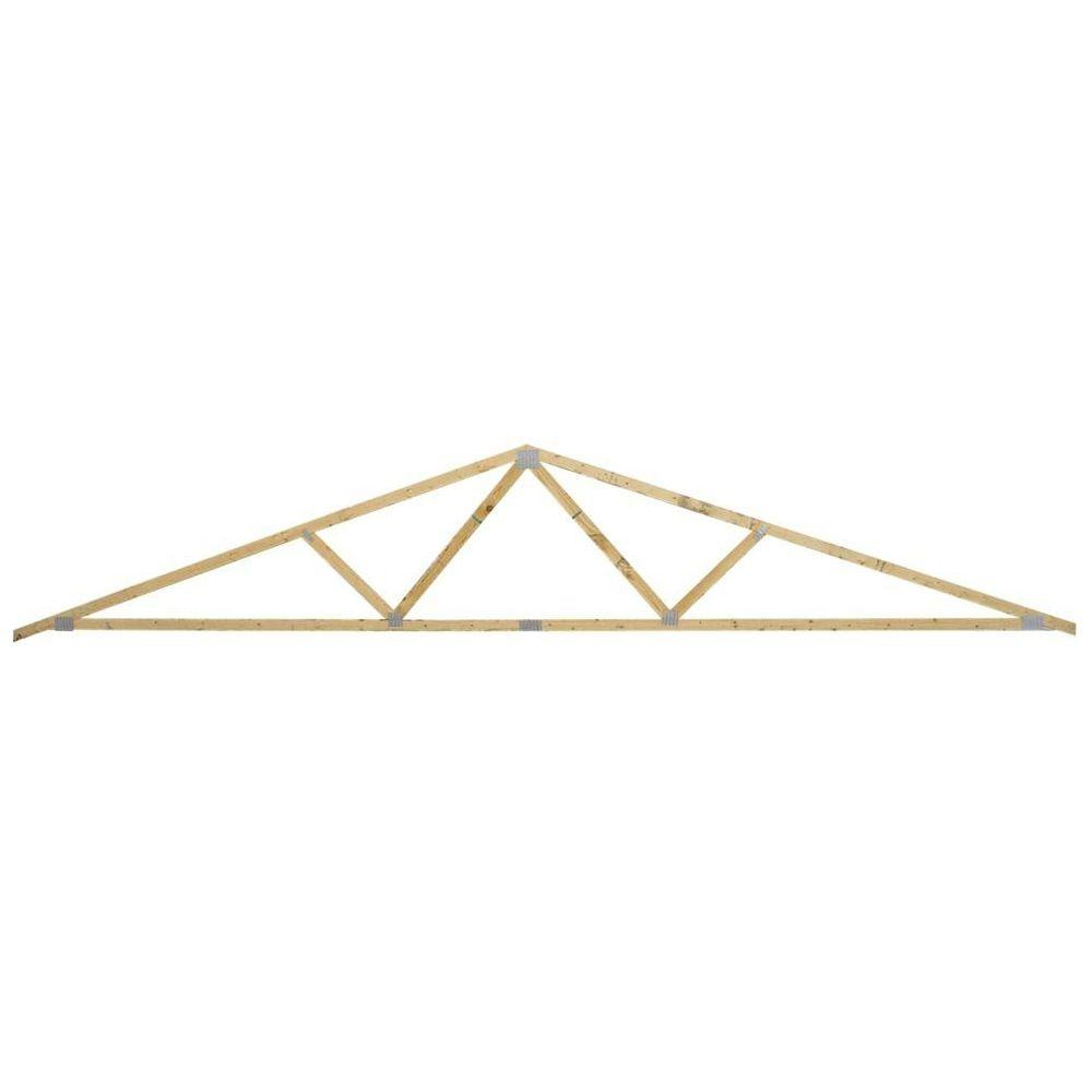 24 roof truss home depot insured by ross for Manufactured roof trusses